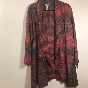 Catherines Cardigan Womens 4X 30/32W open front